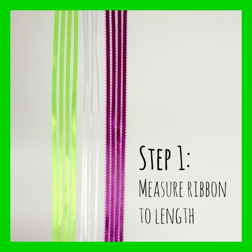 DIY step 1 ribbon