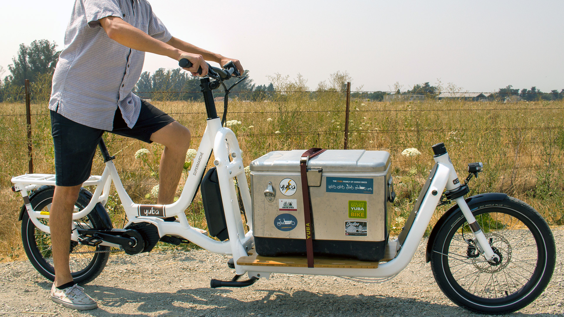 Yuba Electric Supermarche front loading cargo bike