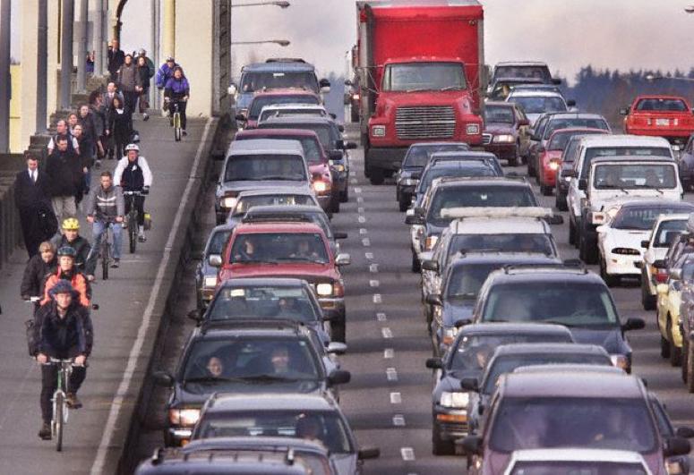 Yuba Cargo Bike Lifestyle Traffic