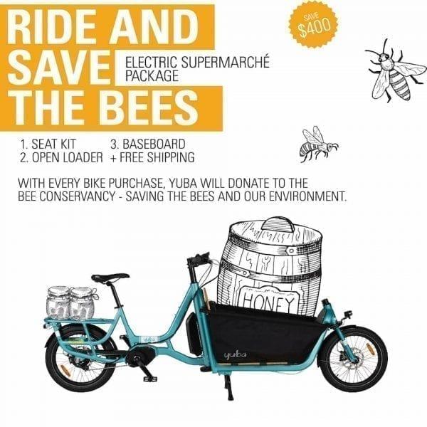 Yuba Cargo Bike E Supermarche Bee promo