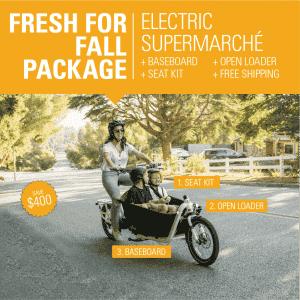 Yuba Electric Supermarché Promo Cargo Bike fresh for fall