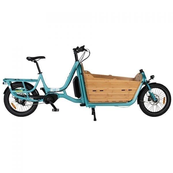 Yuba Cargo Bikes Electric Supermarche Aqua Bamboo