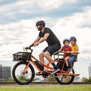 Yuba Cargo Bike Kombi E5 Carry Kids