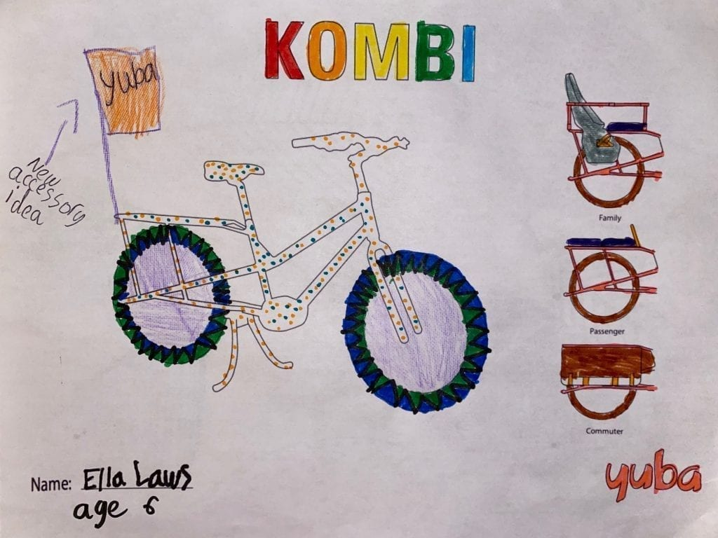 Yuba Cargo Bike Coloring Contest Winning Submission 1