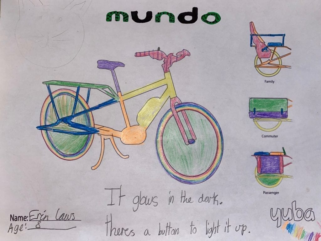 Yuba Cargo Bike Coloring Contest Winning Submission 2