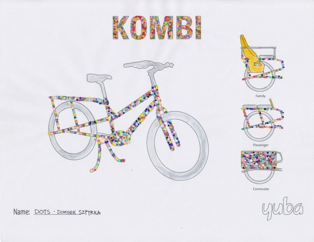 Yuba Cargo Bike Coloring Contest Winning Submission 3