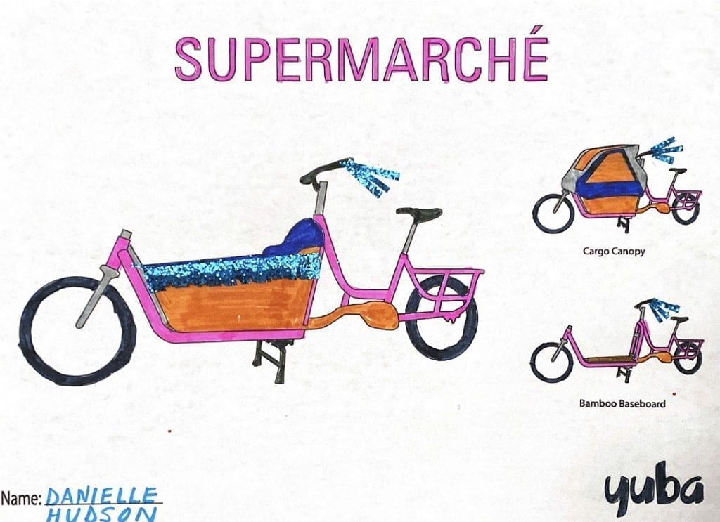 Yuba Cargo Bike Coloring Contest Winning Submission 4