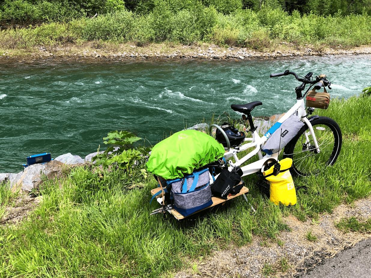 Yuba Spicy Curry Cargo Bike Adventure Logan Pass Hauling