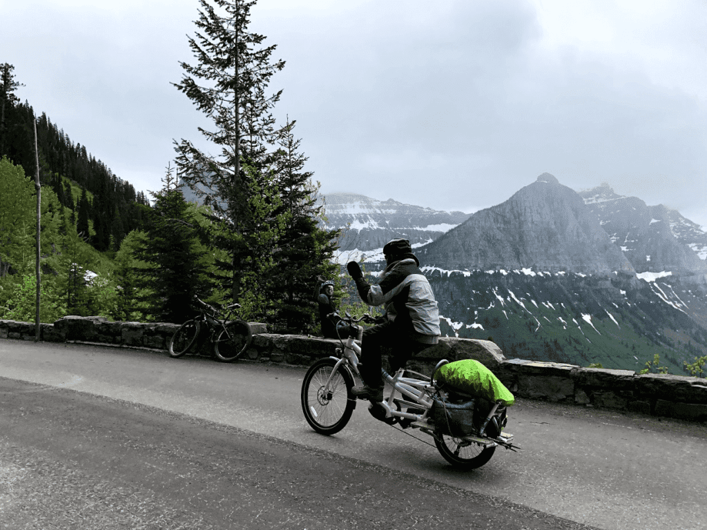 Yuba Spicy Curry Cargo Bike Adventure Logan Pass Passerby
