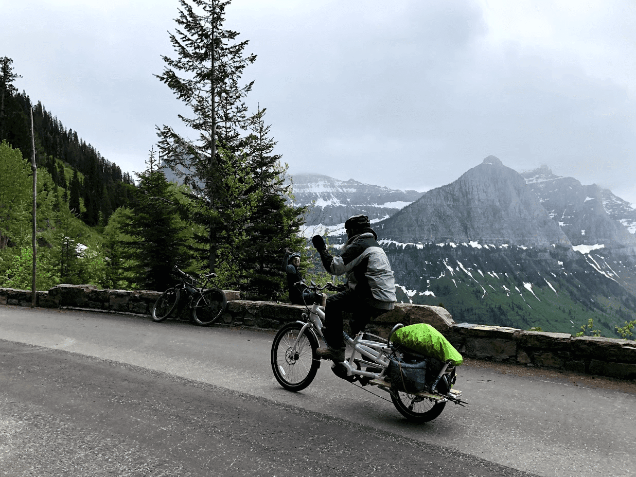 Yuba Spicy Curry Cargo Bike Adventure Logan Pass Passerby
