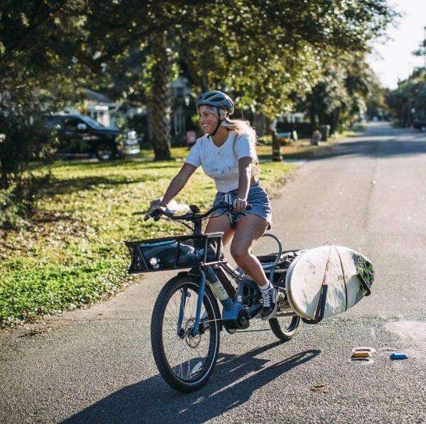 Yuba Cargo Bikes Surfboard Rack Spicy Curry